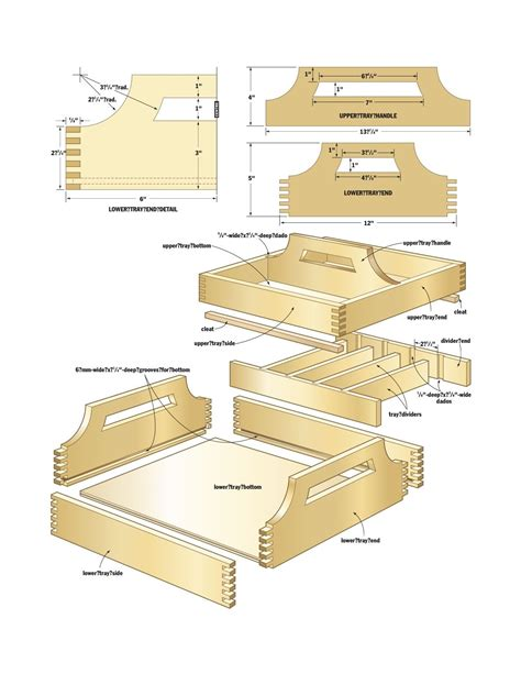 Diy Wood Serving Tray Plans Serving Tray Plans