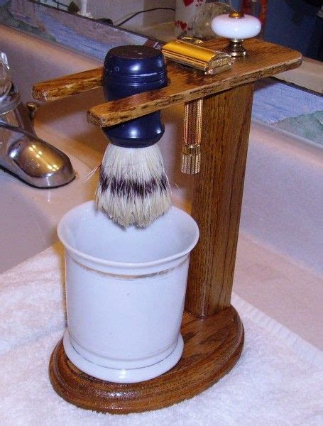Diy Wood Shaving Brush Stand