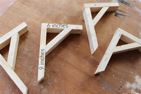 Diy Wood Shelf Garage Bracket