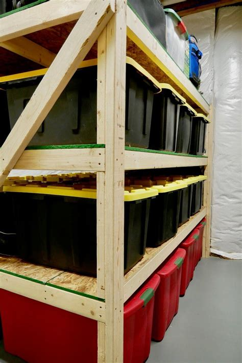 Diy Wood Shelves For Heavy Storage