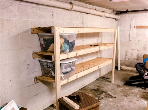 Diy Wood Shelves Garage
