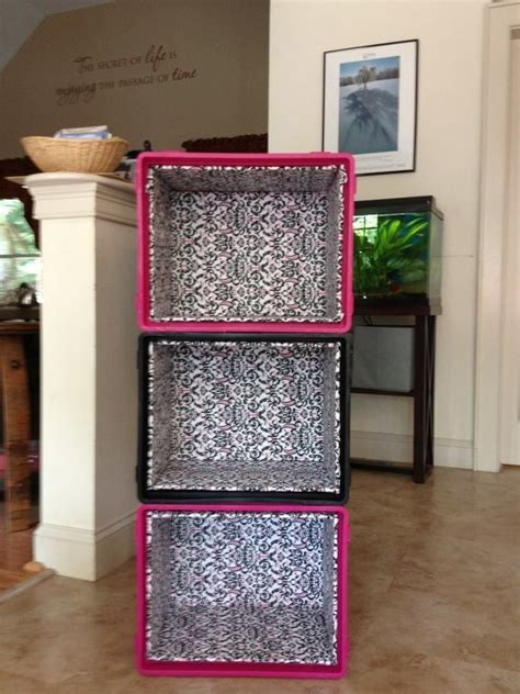 Diy Wood Shelves Using Plastic Milk Crates