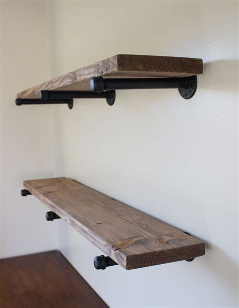 Diy Wood Shelves With Piping