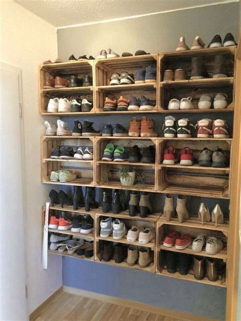 Diy Wood Shoe Rack With Metal