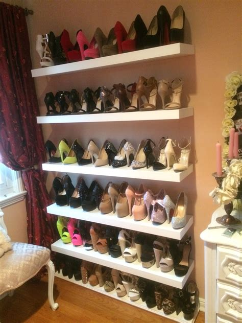 Diy Wood Shoe Shelving System