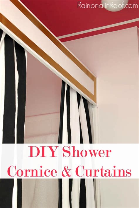 Diy Wood Shower Cornice