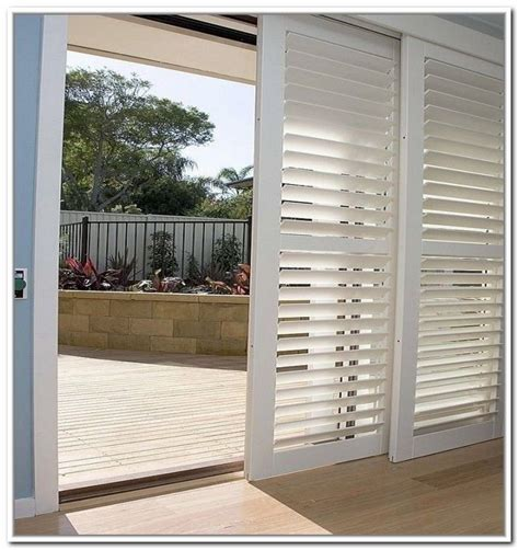 Diy Wood Shutters For Sliding Glass Doors