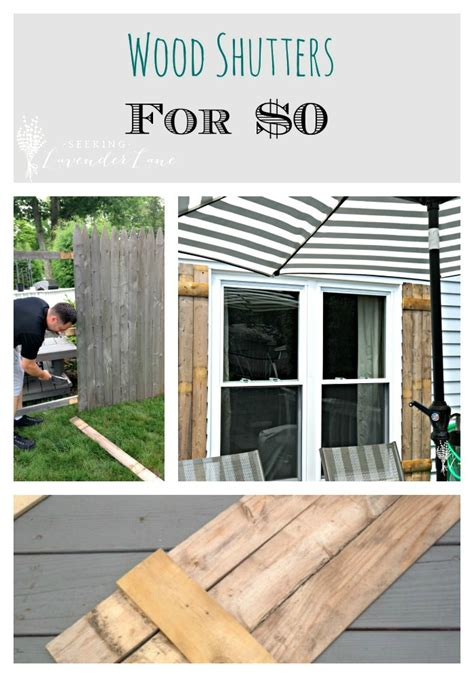Diy Wood Shutters Pinterest