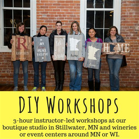 Diy Wood Sign Studio Mn