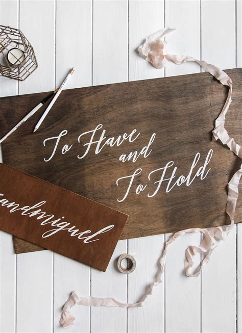 Diy Wood Signs Wedding