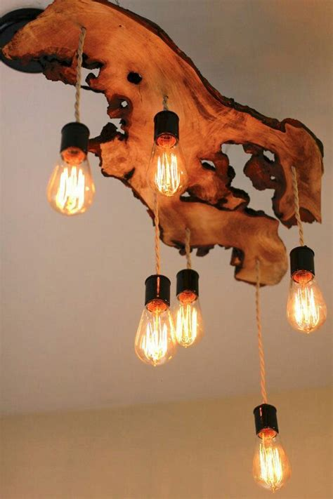 Diy Wood Slab Pendant Lights