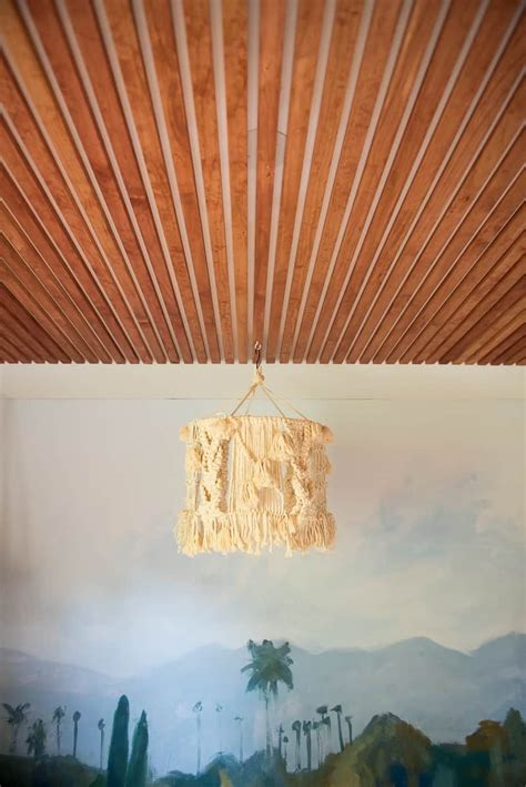 Diy Wood Slat Ceiling Lighting
