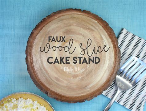 Diy Wood Slice Cake Stand