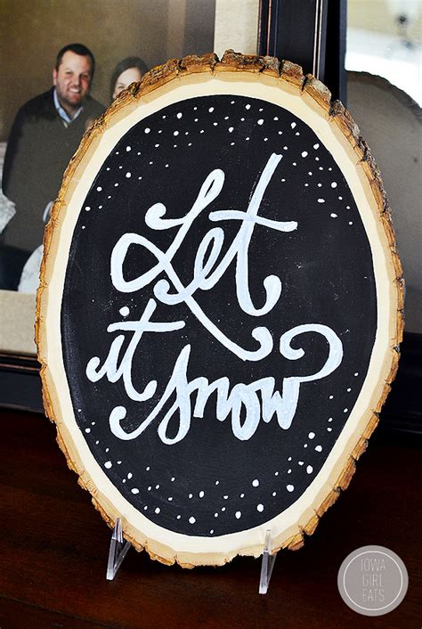 Diy Wood Slice Chalkboards