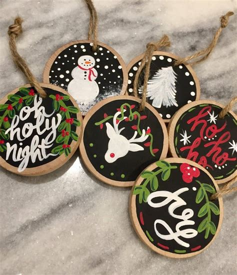 Diy Wood Slice Christmas Ornament Crafts