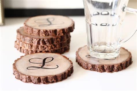 Diy Wood Slice Coasters Bar
