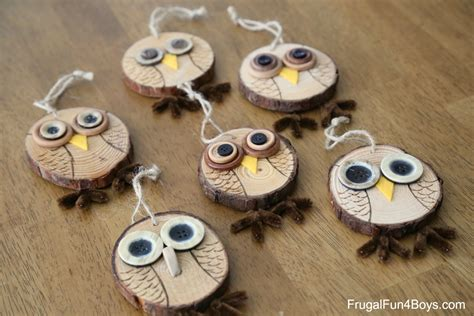 Diy Wood Slice Owl Ornament