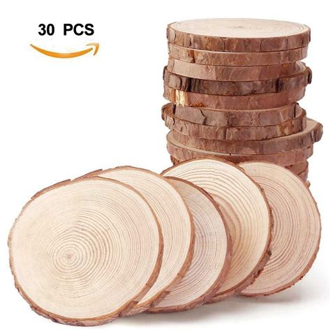 Diy Wood Slice Table Numbers