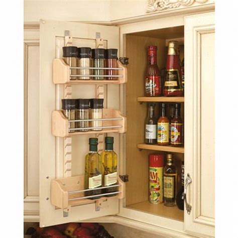 Diy Wood Spice Rack Door Mount