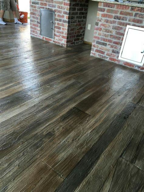 Diy Wood Stained Concrete