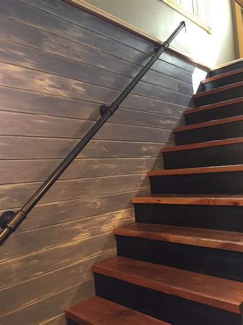 Diy Wood Staircase Makeover Rustic Industrial