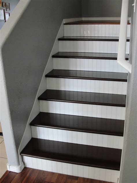 Diy Wood Stairs Makeover Beadboard