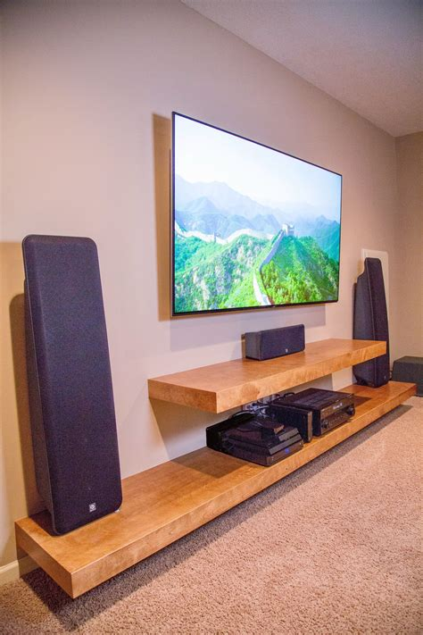 Diy Wood Standing Shelf For Living