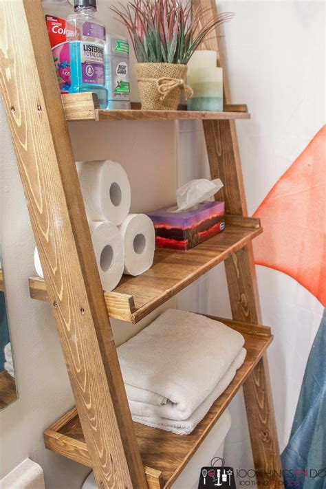 Diy Wood Standing Shelf Over Toilet