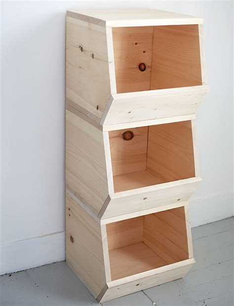 Diy Wood Storage Shelves For Bins Toy