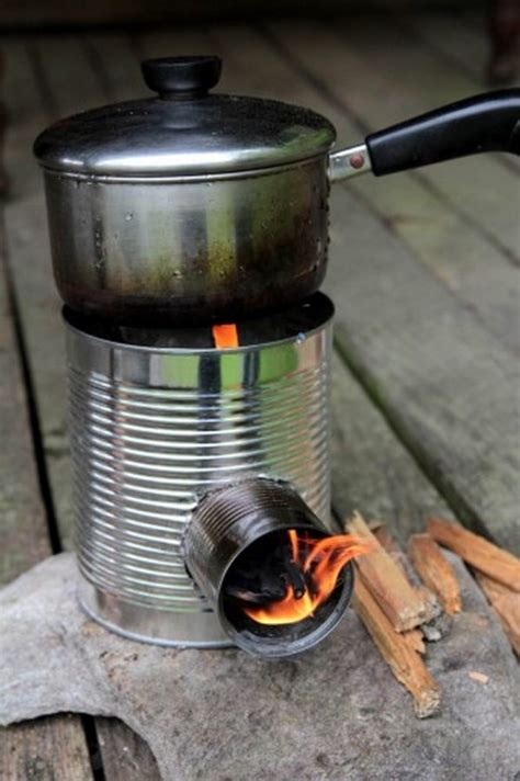 Diy Wood Stove Can