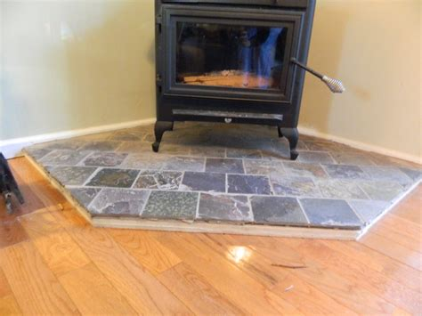 Diy Wood Stove Floor Pad Tiles For Kitchen