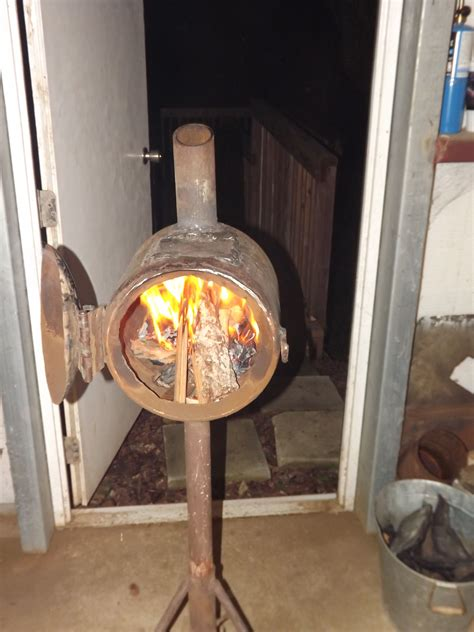 Diy Wood Stove From A Tank