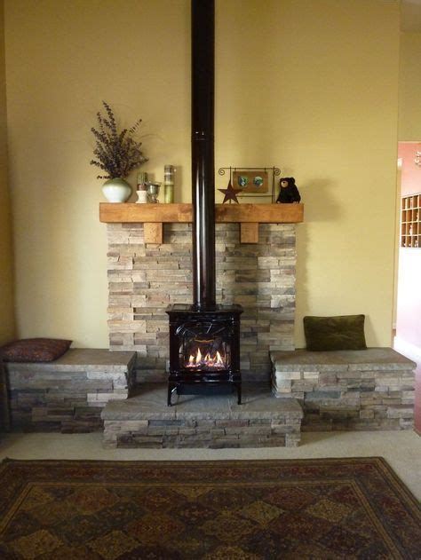 Diy Wood Stove Mantel