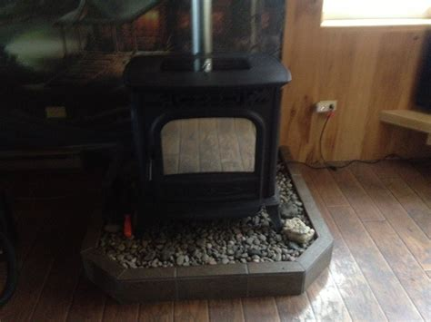 Diy Wood Stove Pad With Cinder Block