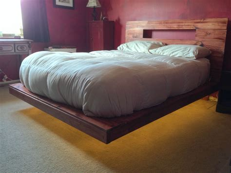 Diy Wood Suspended Bed Frame