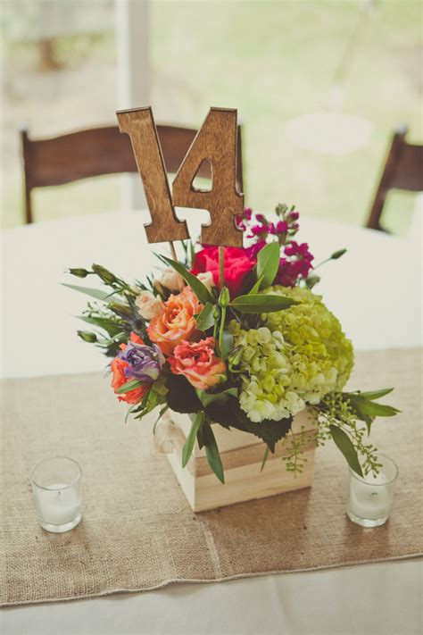 Diy Wood Table Number Centerpiece Picks