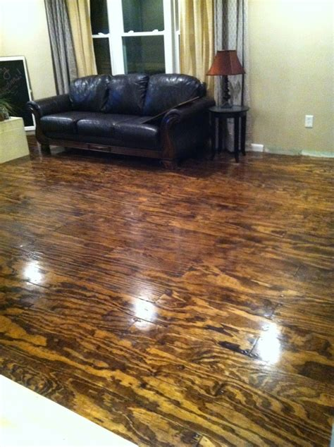 Diy Wood Table Plywood Stained Floors