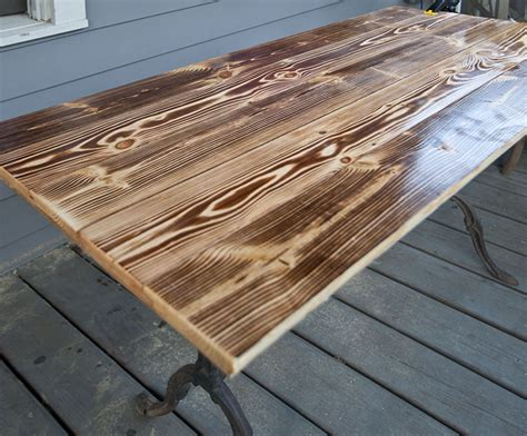 Diy Wood Table Plywood Stained To Look