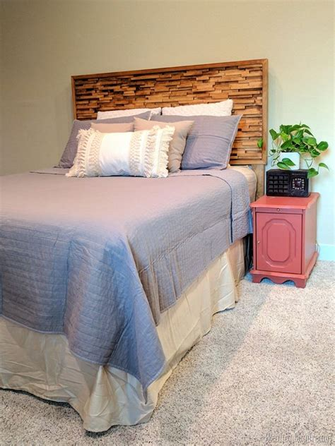 Diy Wood Textured Headboard