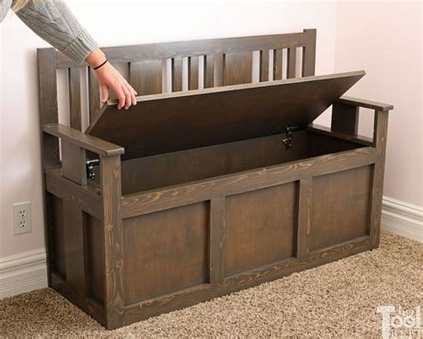 Diy Wood Toy Box Bench
