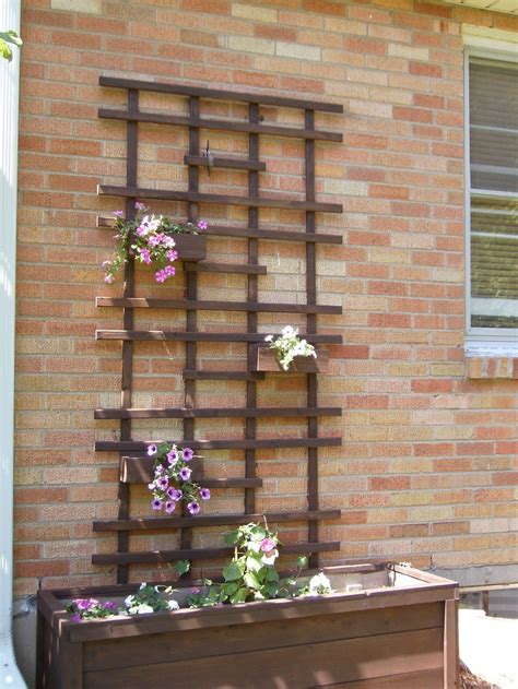 Diy Wood Trellis Wall