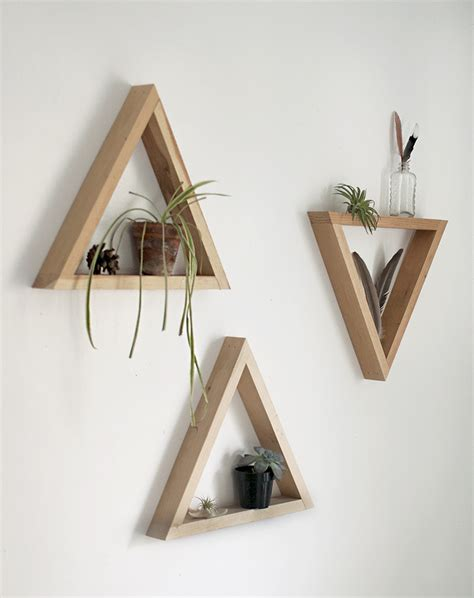 Diy Wood Triangle Shelf