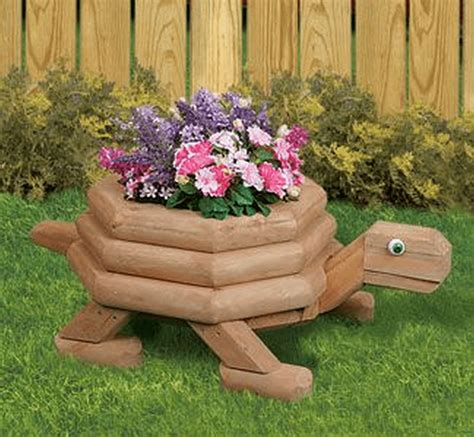 Diy Wood Turtle Planter