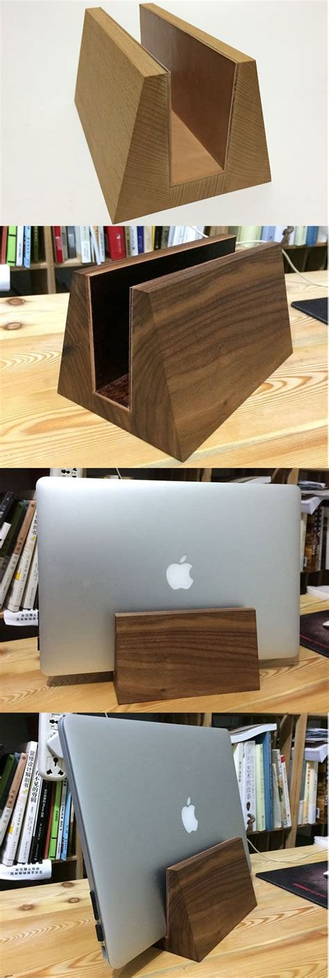 Diy Wood Vertical Laptop Stand