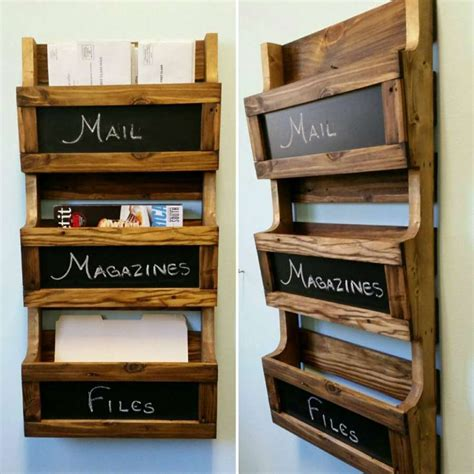 Diy Wood Wall File Organizer