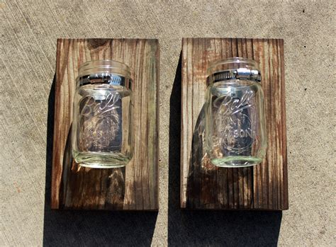 Diy Wood Wall Hanging With Mason Jar Clamp