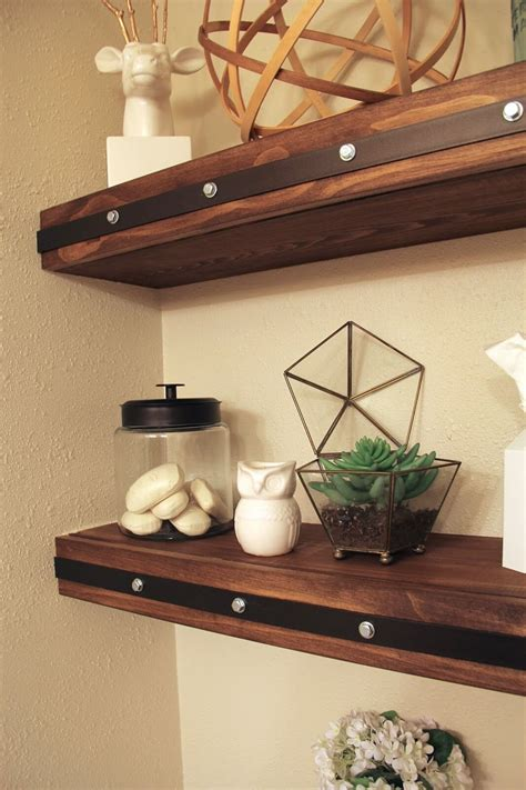 Diy Wood Wall With Floating Shelves