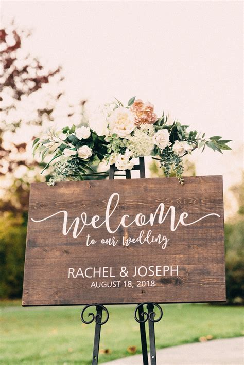 Diy Wood Wedding Welcome Sign