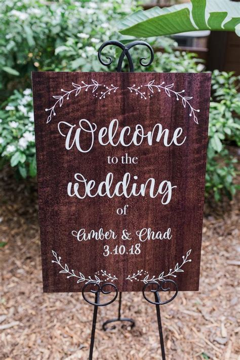 Diy Wood Welcome Wedding Sign
