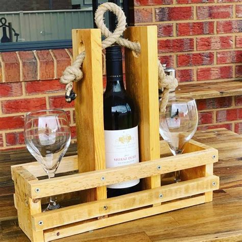Diy Wood Wine Caddy